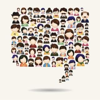 Speech bubble of people