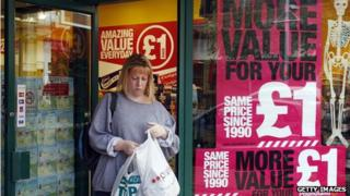 Poundland shopper