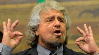 Beppe Grillo, 19 Feb 14