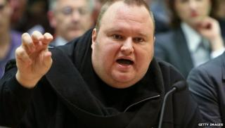 Kim Dotcom at a NZ parliamentary committee
