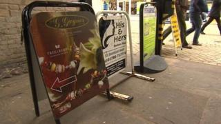 Advertising boards in Stamford