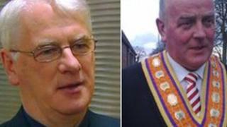 Bishop Noel Treanor and Edward Stevenson