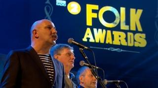 Members of the Fisherman's Friends - Screen grab from the awards