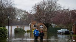 Flood scene