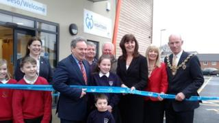 Wrexham AM Lesley Griffiths opens the new community centre