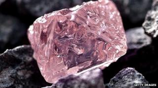 Large pink diamond