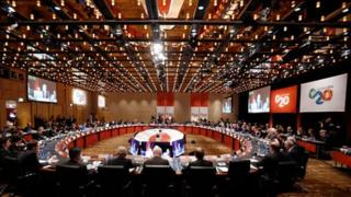 Meeting of G20 finance ministers and bankers
