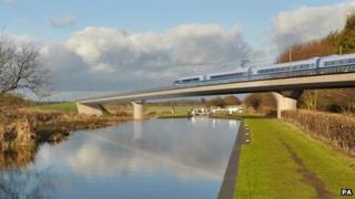 Image of proposed HS2 rail line