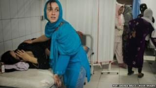 women in a clinic