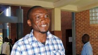 Zambian gay rights activist Paul Kasonkomona in April 2013