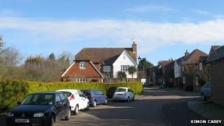 General view of Cricketers Close, Ashington, West Sussex