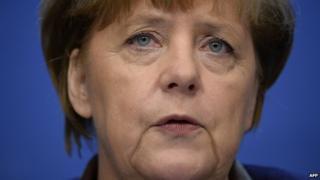 German Chancellor Angela Merkel 20/12/2013