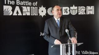 Alex Salmond at Bannockburn