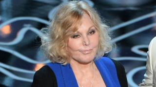 Kim Novak presented the award for best animated feature at the Oscars on 3 March.
