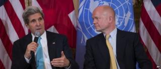 John Kerry and William Hague, pictured in Washington last week