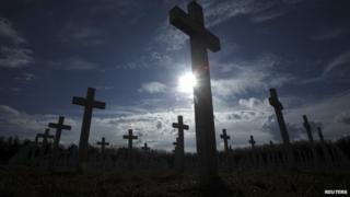Memorial cemetery in Vukovar, Croatia