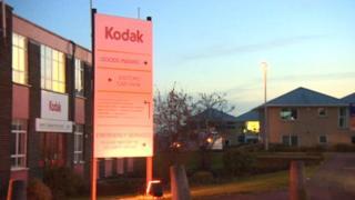 Kodak factory entrance