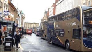 Bus queues in Northampton