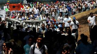 Opposition march in Caracas