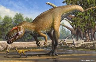 Artist's impression of Torvosaurus gurneyi