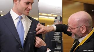 Tailor making changes to a suit