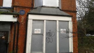 J Arthur Rank's boarded up house