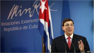 Cuban Foreign minister Bruno Rodriguez