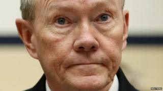 Chairman of the Joint Chiefs of Staff US Army General Martin Dempsey attends the House Armed Services Committee hearing Washington 6 March 2014