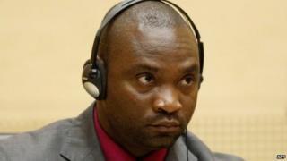Germain Katanga in 2012 in court at The Hague