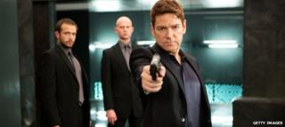 Kenneth Branagh plays a ruthless oligarch - and holds a weapon - in Jack Ryan