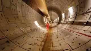 First completed section of Crossrail between Royal Oak and Farringdon.