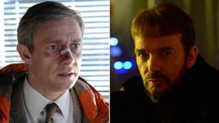 Martin Freeman and Billy Bob Thornton as they appear in Fargo