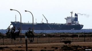 North Korean-flagged oil tanker at Sidra