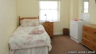 One of the bedrooms in the Guernsey Women's Refuge