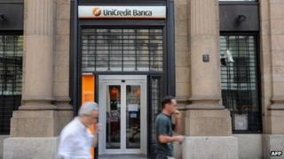 UniCredit bank in Milan
