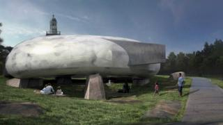 An artist's impression of Smiljan Radic's Pavilion structure