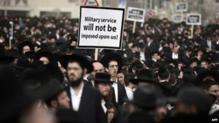 Ultra-Orthodox protest in Jerusalem (2 March 2014)