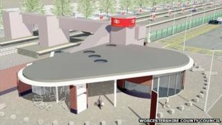 Artist's impression of proposed site