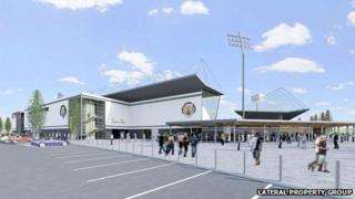 Artist's impression of new Castleford Tigers' stadium