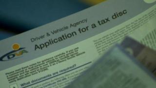 Tax disc application