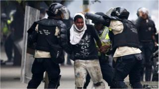 Protester arrested in Caracas, Venezuela