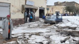 Aftermath of the hail storm in Eritrea's capital Asmara