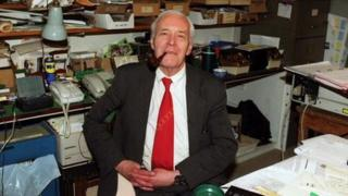 Tony Benn in his library in 2011