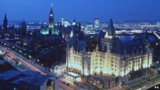 Ottawa at dusk