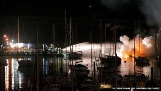 Kingswear boat fire, March 2014