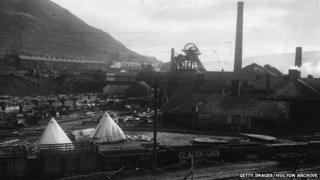 Military camp at Glamorgan Colliery , November 1910