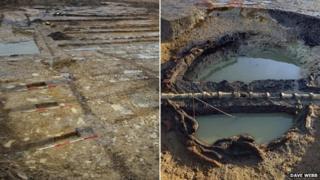 Roman irrigation system in Cambridge