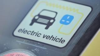 Electric vehicle sticker