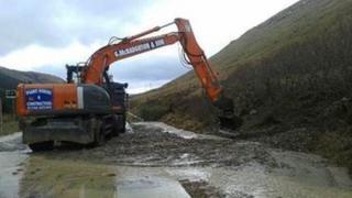 Digger at A83