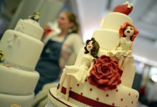 Same sex (women) wedding cake